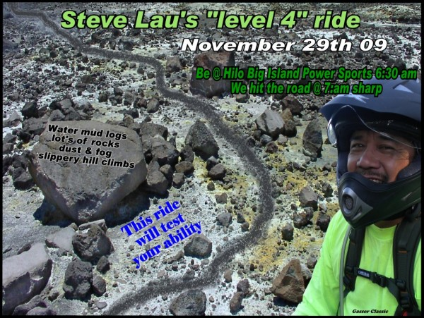 Steve Lau, Dual-Sport off road trail riders best friend